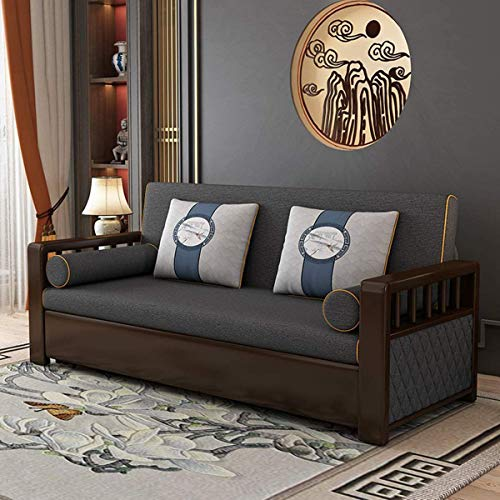 Snd A New Couches Sofas Bedeuropean Folding Storage Sofa Bedfabric Futon Couches Loveseat Sleeper Sofa Living Room Cushion Furniturepull Out Couch Sofa Convertible Beddark Gray196M 0